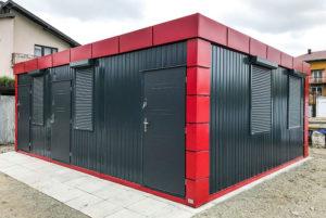 Doppel Wohncontainer/Bürocontainer DB2.3 Außen