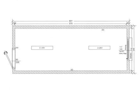 Bürocontainer Skizze BC1