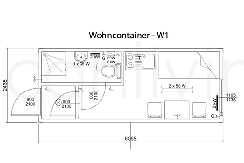 Wohncontainer w1 conliving gmbh container for Moderne wohncontainer