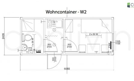 wohncontainer w2 conliving gmbh container. Black Bedroom Furniture Sets. Home Design Ideas
