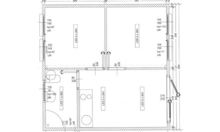 Wohncontainer kaufen - W5 - Skizze