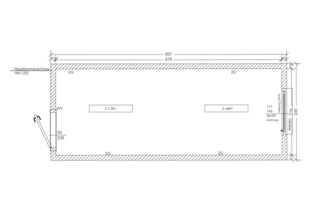 Bürocontainer-BC1-Skizze